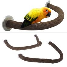 Natural Wooden Bird Perch U Shape Stand Pet Parrot Foot Grinding Cage Accessories