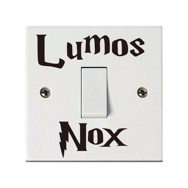 Lumos Nox Quote Vinyl Wall Stickers Harry Potter Light Switch