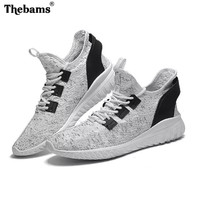 Men shoes 2018 New Arrivals hot mesh Breathable Ultra light lace up shoes men sneakers spring comfortable men vulcanize Shoes