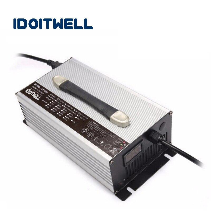 Многократная защита 12V LifePo4 зарядное устройство 14,6 V 50A зарядное устройство светодиодный дисплей 12 вольт 50A зарядное устройство для 4S lifepo4