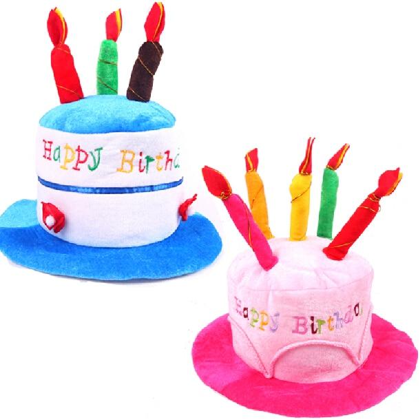 Sombrero de felpa feliz cumpleaños sombrero de cumpleaños con - Para fiestas y celebraciones - foto 1