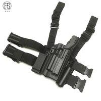FS Tactical Huntin Airgun Air Rifle Gun Holster Right Leg Thigh Holster W/ Magazine Torch Pouch Beretta 92 96 M9 With Flashlight