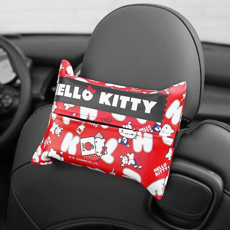 1pc kitty gato caixas de tecido bonito titular caixa de tecido estilo do carro titular