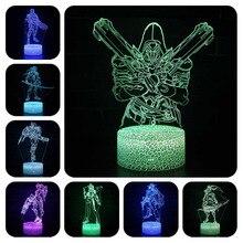 Düşük 7 renk değiştirme masa projeksiyon lambası USB parlak Led Overwatching Reaper Hanzo Genji Mccree aksiyon figürü aydınlık oyuncaklar