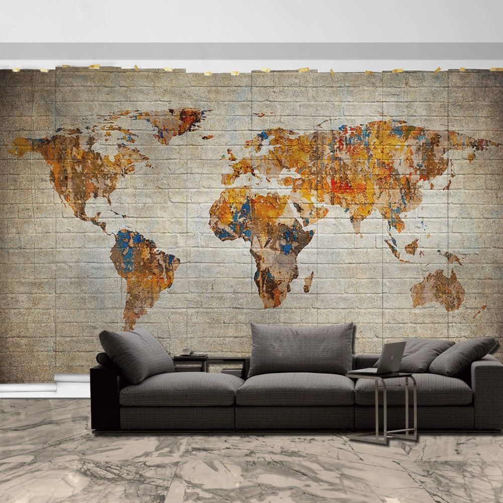 Carta da parati cartina del mondo pieterduisenberg for Carta parati mondo