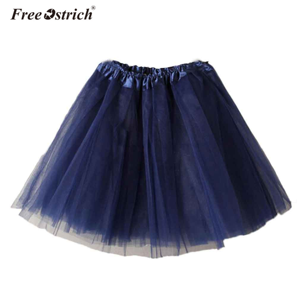 Free Ostrich Mini Skirt Cotume Corset 2019 New Pettiskirt Women Ballet Tutu Layered Organza Lace Accessories Petticoat B1140