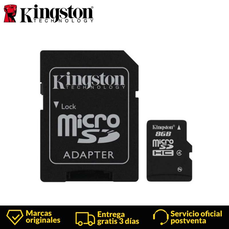 Kingston Technology Canvas Select Class 4 Micro SDHC 8GB  Micro SD Card 8GB  MicroSD Flash Memory Card Black Sd Card+Adapter