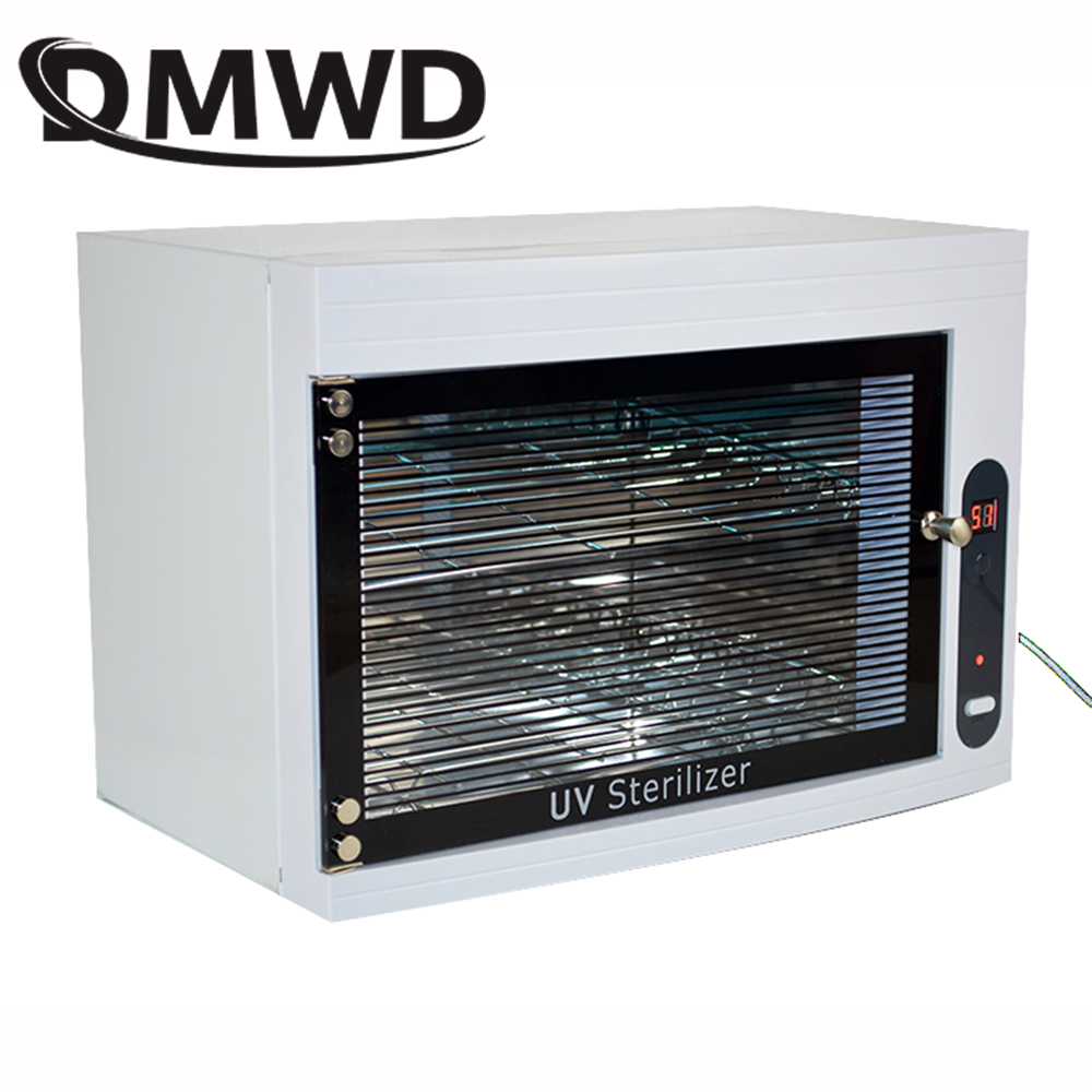 DMWD UV Sterilizer Disinfection Box mini ozone sterilizing machine dental Ultraviolet sterilization cabinet Nail Tools For Salon bluerise single double layers uv sterilizer box safe efficient disinfection nail art tools manicure ultraviolet sterilizing