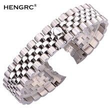 Correas de reloj de Metal de 20mm para hombre y mujer, pulsera de reloj de acero inoxidable de 316L, correa de reloj de moda, hebilla de despliegue, accesorios