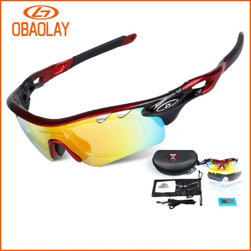 OBAOLAY Polarized Cycling Sunglass men 2017 Radar EV Pitch ciclismo occhiali MTB Glasses women Bicycle Eyewear