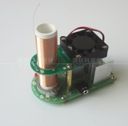 Musique Tesla bobine lecteur jouet enfants l'enseignement des sciences jouet PLL la cest sans fil électrique arc puissance de sortie pour la musique 120db