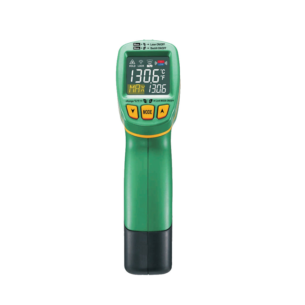 MS6531B MASTECH Handheld Non-Contact Digital LCD Display IR Infrared Thermometer Laser Temperature Tester Pyrometer termometro mastech ms6530a d s 12 1 non contact infrared thermometer ir temperature gun with laser pointer tester 20c 850c
