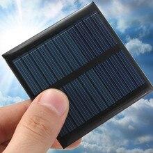 CLAITE Solar Battery Charger 5.5V 1.6W 1W 0.66W Solar Panel Kit DIY 3.7V Battery Charger Module Epoxy PV Polycrystalline Cells