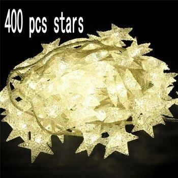 חדש 400 LED אורות מחרוזת כוכב קטן. תאורת אווירה הטוב ביותר קישוט מסיבת לבפנים ובחוץ