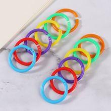 Loose Leaf Ring-Binder Circle Plastic Hoops Photo-Scrapbook DIY for Album C26 20pcs Multi-Functional