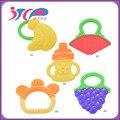Frutas e Legumes de Forma Silicone Mordedor bebê Mordedor 2016 Brand New Cuidado Dental escova de Dentes Formação Do Bebê Cuidados Com o Bebê Silicone