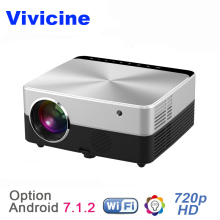 Vivicine New V5 1280X720 HD LED Projector,Optional Android 7.1.2 HDMI USB VGA PC WIFI Home Theater Proyectors Beamer
