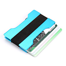 Wholesale New Business Card Holder RFID Metal Wallet Antitheft Credit Portable Case Aluminium Alloy