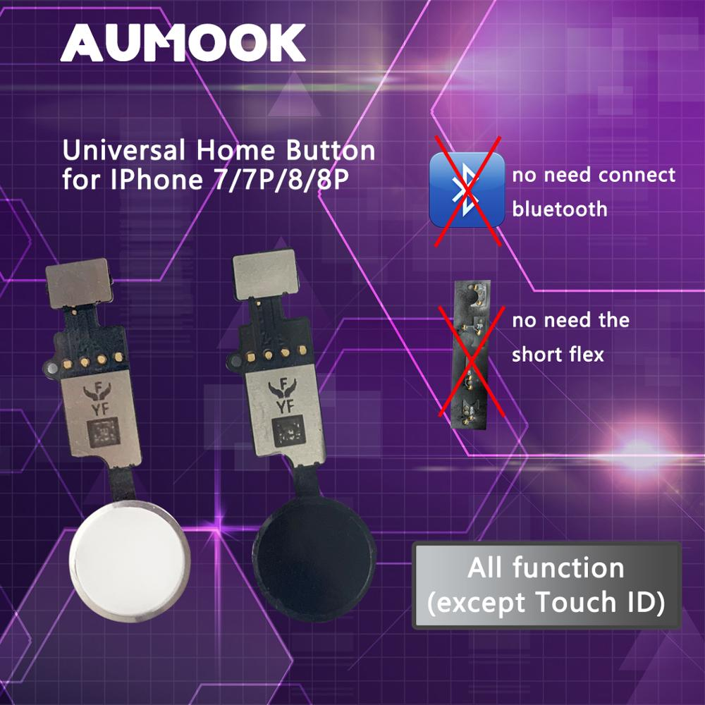 YF NEW Universal Home Button For iPhone 7 7 plus 8 8 plus Button flex cable Restore ordinary Button Replacement return functions-in Mobile Phone Flex Cables from Cellphones & Telecommunications on