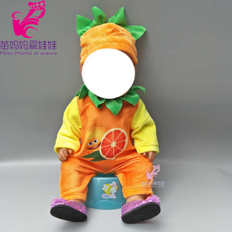 1f6ddd9b9c0f9 baby doll outfit fruit set for 18 doll party clothes set for doll boy dress  up