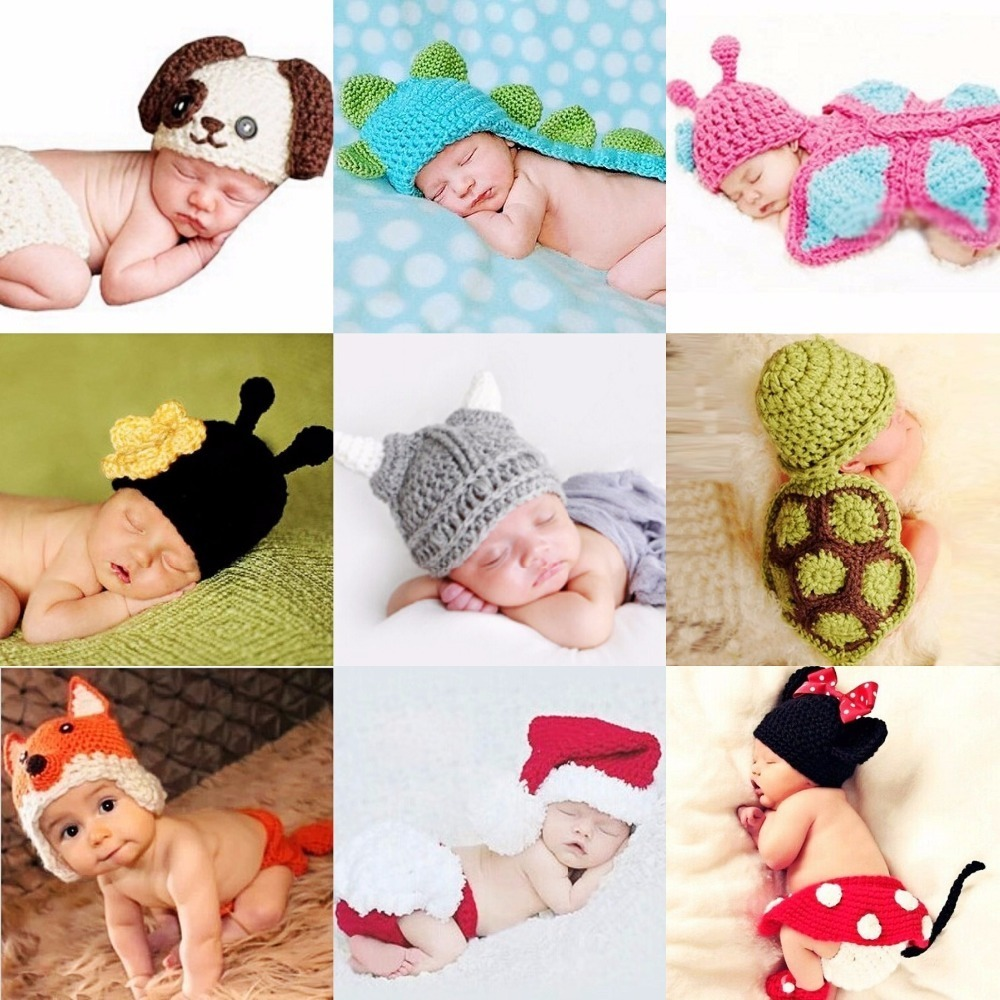 Newborn Animal Photography baby outfit crochet hat newborn outfit Animal Hat Newborn Prop newborn knit hat Children Photo Props