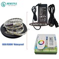 Waterproof RGBW/RGBWW Led Strip Light FlexibleTape Ribbon SMD 5050 DC12V + RF Touch Remote Controller + 5A Power Adapter Supply