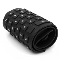 Ultra Slim Portable Keyboard USB Flexible Foldable Silent Silicon Keyboard For Sony For PS2 Computer Laptop