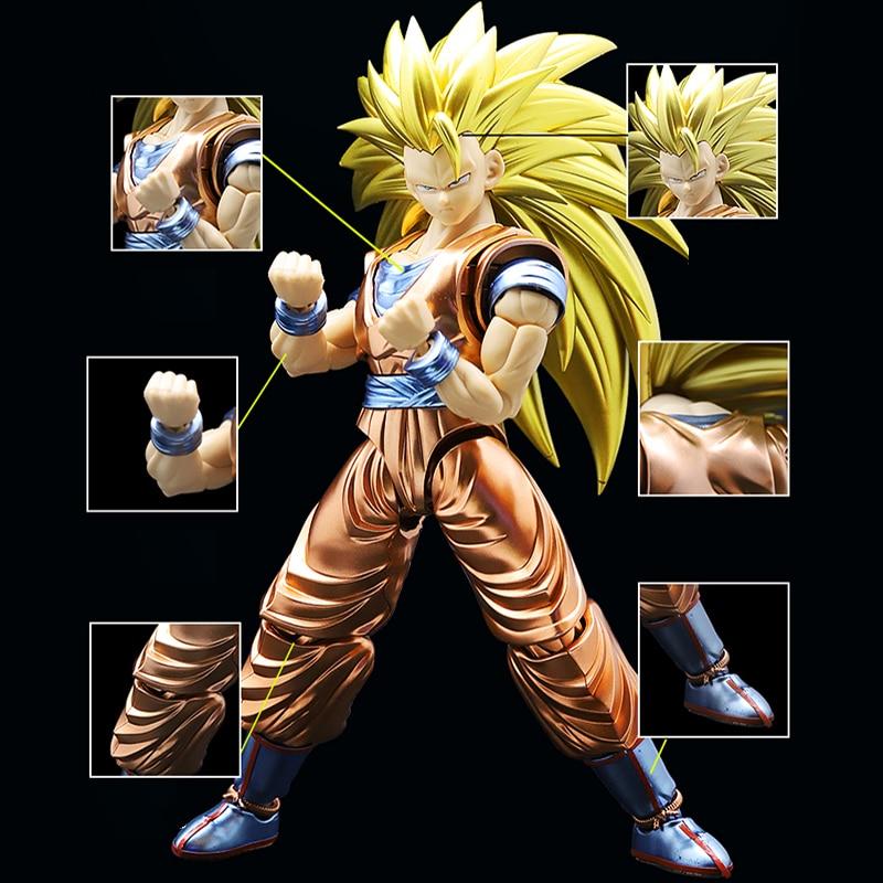 Original Dragon Ball Super Saiyan 3 Goku Migatte Metal Coloring Assembled action figure collection model toys for gift все цены