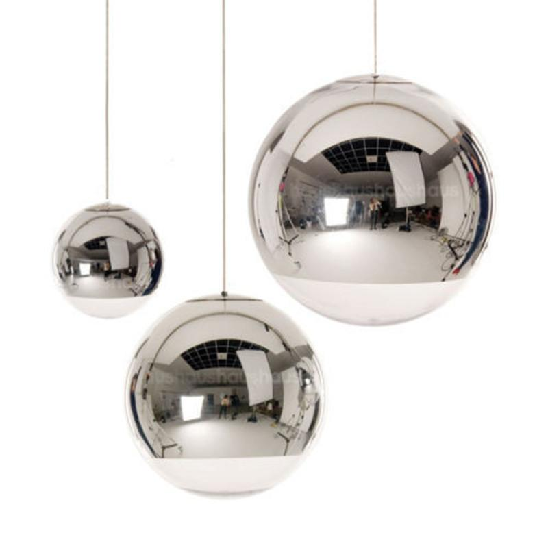 Modern Pendant Lights Glass Globe Pendant Lamps Chrome Ball Light Kitchen Fixture avize luminaria design lamp Home Lighting modern mirror sliver glass pendant lights lustres spherical globle ball pendant lamps hanging light fixture luminaria