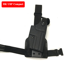 Quick Drop Tactical HK USP Compact Pistol Gun Holster Military Army Gun Leg Holster Airsoft Hunting Shooting Gun Carry Case saike 1503d dc regulated power supply 15v 3a regulated adjustable laboratory power supply with usb interface