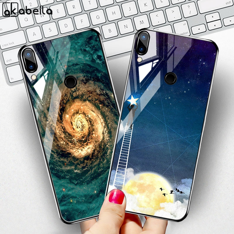 Phone Case For Huawei Honor 10 Lite Case Coque On For Huawei Honor 9 Lite Play 8A 8C 8s 7A 7C Pro 8x Max Tempered Glass Bumper