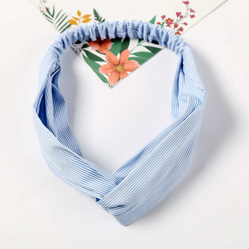Fashion Stripe Knot Headband Elastic Hair Bands Headwrap Floral Hair Scrunchies For Women Girls Hairband Bandanas Accessories