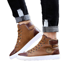 Spring Autumn Shoes Men Casual Shoes Fashion High Top Men High Pipe Retro Comfortable Men's Flat Shoes OR642863