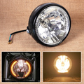 "7"" Clear LED Motorcycle Headlight Halogen Angel Eye Turn Signal Light Indicators Blinker for Honda Harley Kawasaki Yamaha Suzuki"