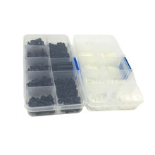 300pcs Nylon Hex M3 Male Female Spacers Screw Nuts Standoff Kit With Plastic Box White Black Accessories Assortment LAD-sale(China)