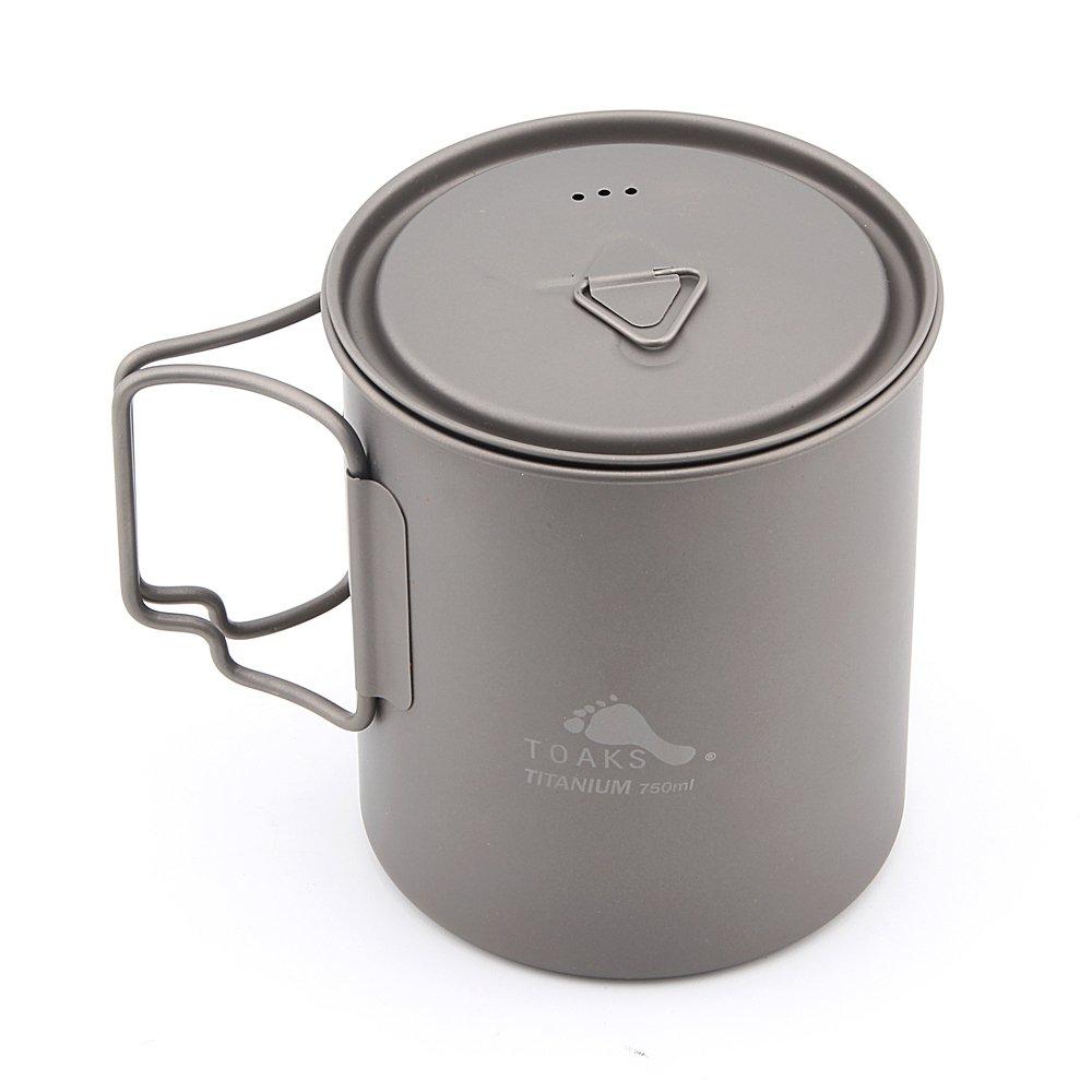 TOAKS Titanium Camping Pot And Cup(375ml, 450ml, 550ml, 650ml, 700ml, 750ml, 800ml, 900ml, 1100ml)