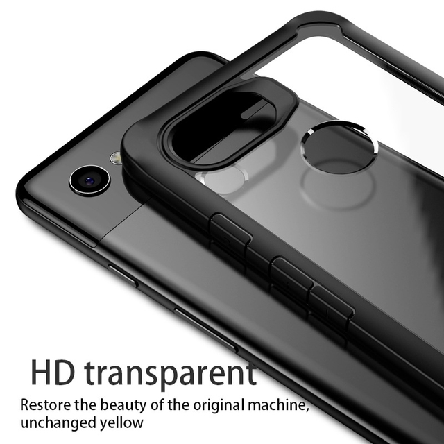 info for ff7ab c8599 US $3.16 25% OFF|BEXFLOVE Case For Google Pixel 2XL Case Cover For Google  Pixel 2 Case Transparent Hybrid Soft Red Cover For Pixel 2 XL 2XL Case -in  ...