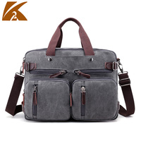 KVKY Men Handbags Canvas Shoulder Crossbody Bags Men Messenger Bags Solid Man Casual Travel Multifunction Back