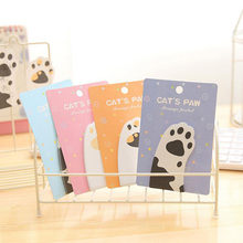 1x Kawaii Schattige Kat Poot Sticky Notes Bericht Plan Schrijven Memo Pads School Office Supply Stok Label Briefpapier(China)