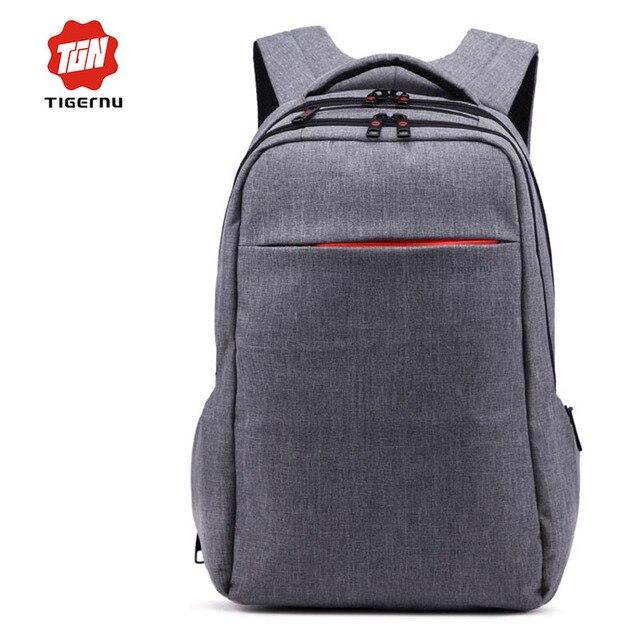 Tigernu marca cinza mochila bagpack mochila lona ocasional bolsas femininas saco sacos de mulheres para o sexo feminino mochila 15.6 bolsa para laptop