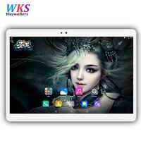 10.1 polegada tablet pc Original 3G 4G Phone Call Dual SIM card Android 7.0 octa núcleo CE Marca WiFi FM 4 GB + 64 GB Bluetooth tablets pc