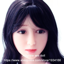 real silicone doll head in Sex Dolls,sex product accessories,solid skeleton,with eyes wigs,oral sex,customized makeup,140 cm