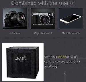 Image 2 - をサイプロ 32 80 × 80 × 80 センチ写真スタジオライトボックス LED ソフトボックス撮影ライトテントフォトボックスセットベビー衣料用 lichtbak