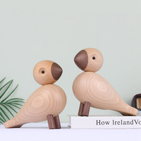 Jogar O boneco fantoche de madeira talha decoração Mobiliário Doméstico criativo pássaro da Dinamarca Pequenos ornamentos no quarto
