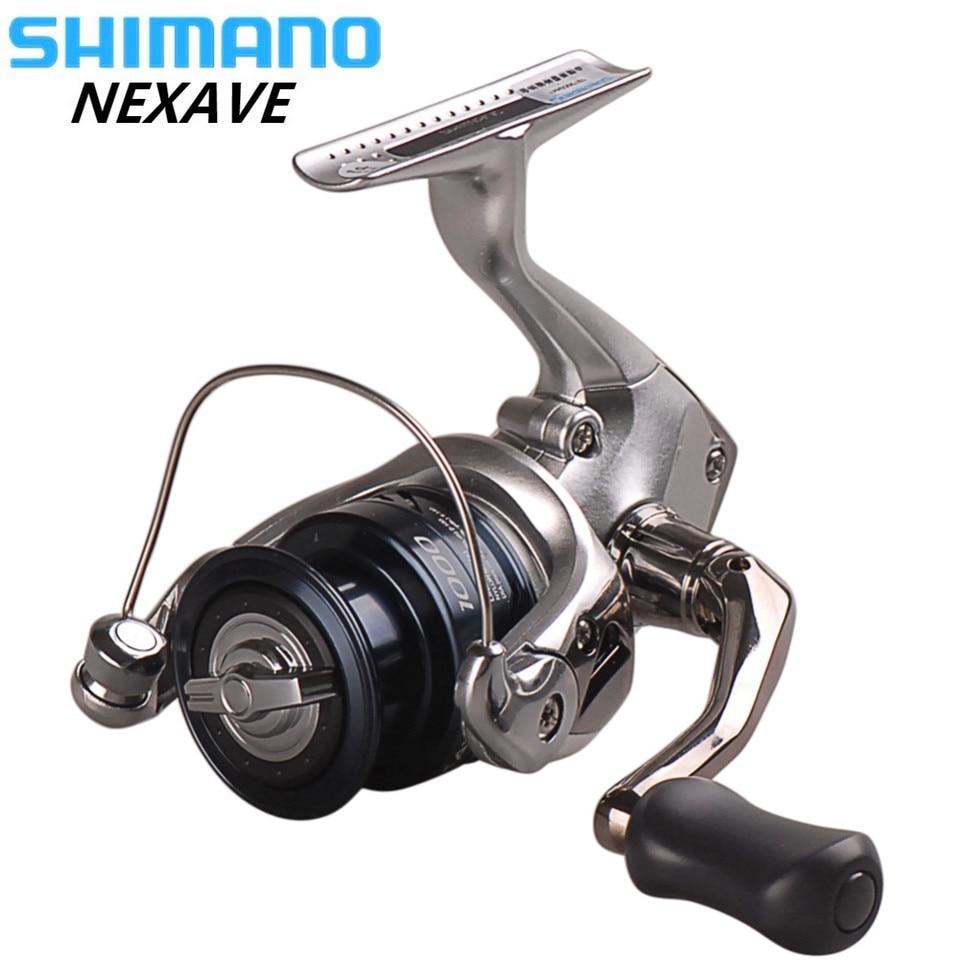 100% 2018 Original SHIMANO NEXAVE 1000 2500HG C3000HG 4000HG C5000HG 4BB Spinning Salzwasser Karpfen Angelrolle Pesca Peche