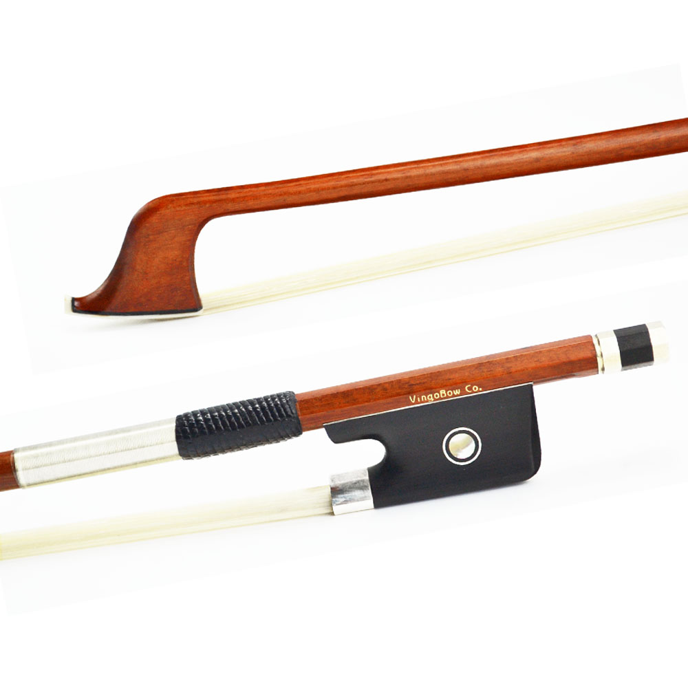 4/4 Size 870C Master Pernambuco CELLO BOW Pure Silver Mounted Ebony Frog and Screw Nice  ...