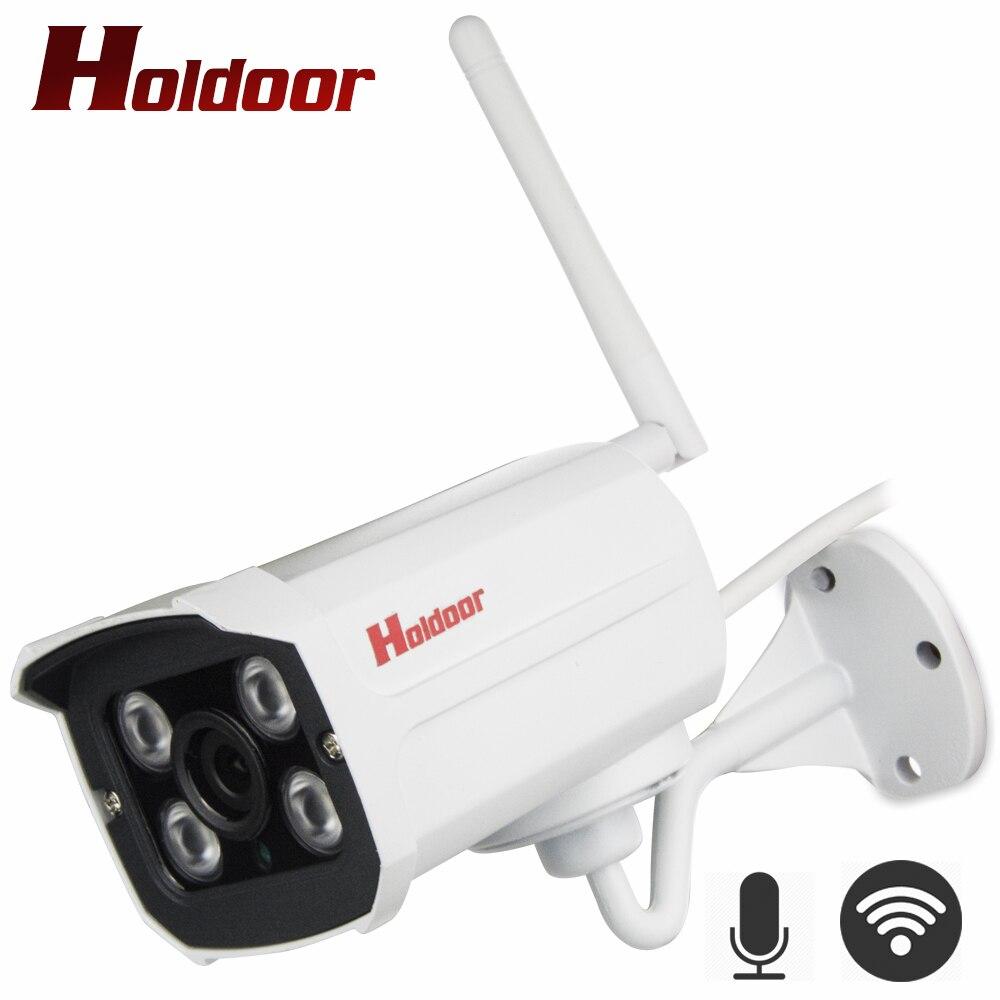 Holdoor IP WiFi Della Macchina Fotografica di Video Sistema di Telecamere di Sorveglianza HD Esterno Senza Fili con Audio di Registrazione Flash Drive Supporto Micro SD