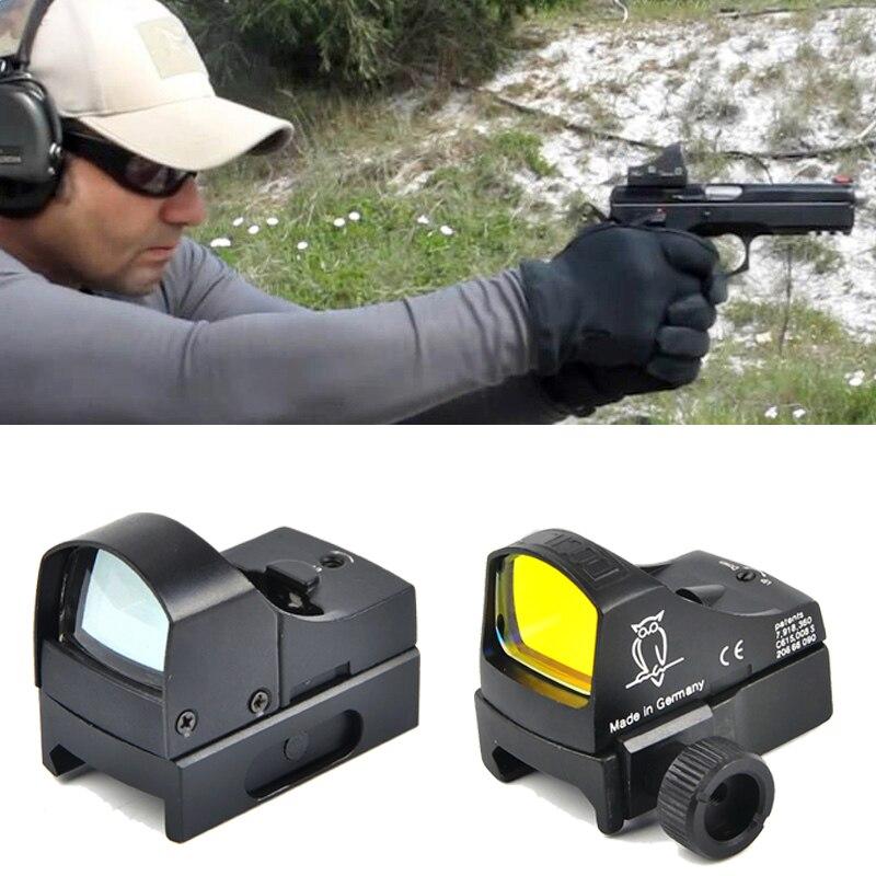 Doctor vista ||| rojo punto Rifle ámbito Micro Dot reflejo holográfica vista de punto óptica caza ámbitos Airsoft Rifle Mini Dot