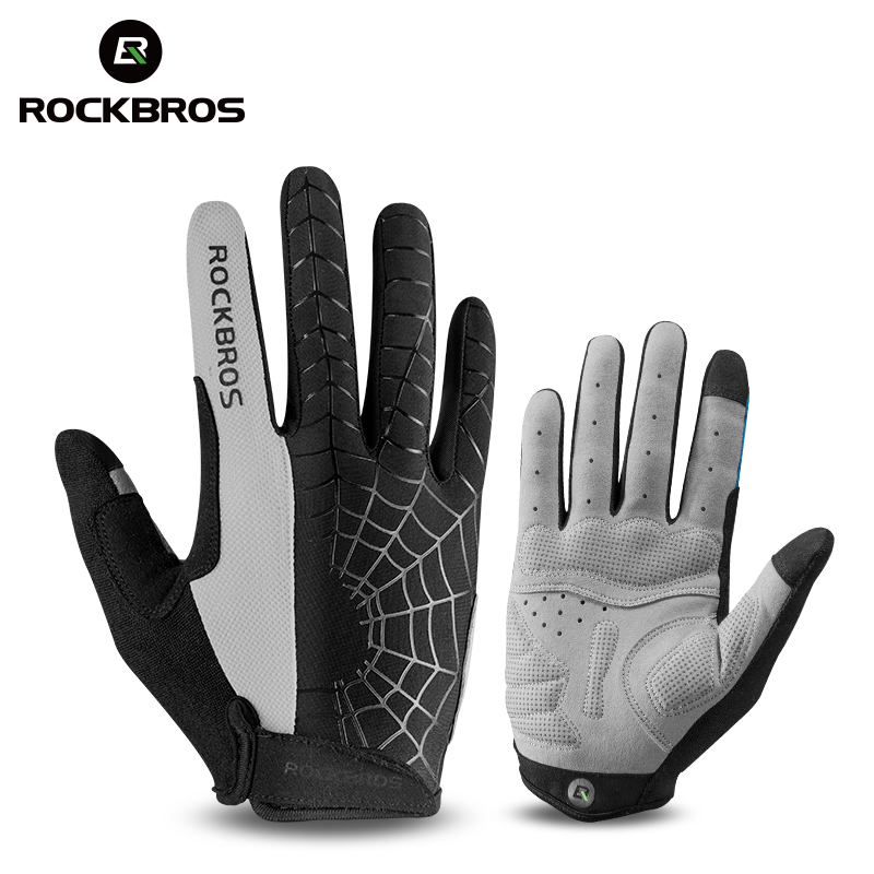 ROCKBROS Windproof Cycling Bicycle Gloves Touch Screen Riding MTB Bike Glove Thermal Warm Motorcycle Winter Autumn Bike Clothing bikein cycling bike sports waterproof soft touch screen glove winter racing warm windstopper gloves s m l xl bicycle accessories