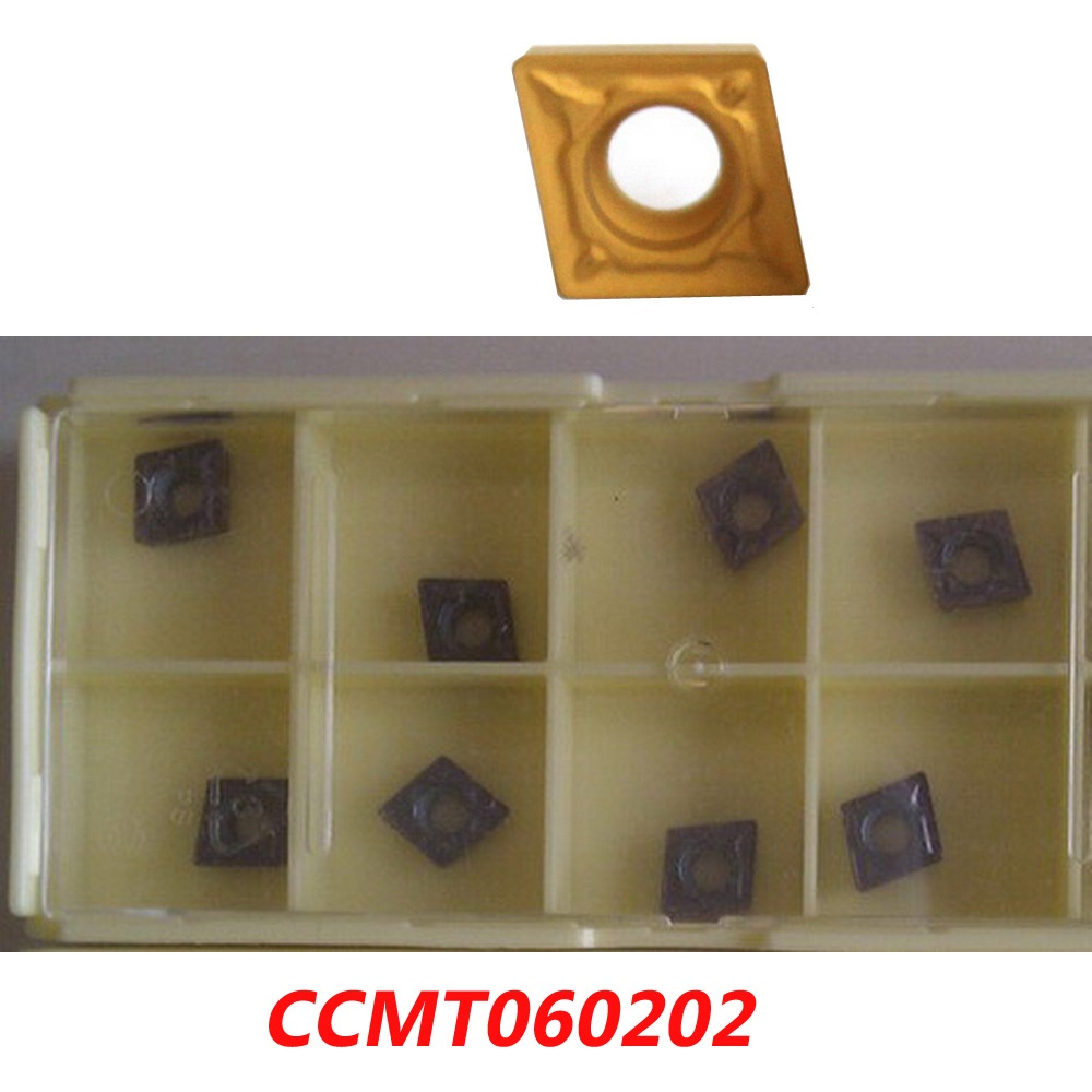 Free shipping CCMT060202 carbide inserts for face milling cutter TJU / SCLCR / RBH tools suitable for NC/CNC milling machine